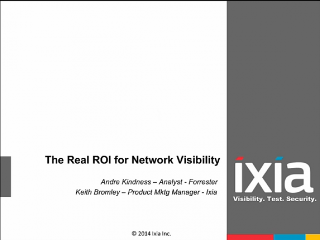 The Real ROI for Network Visibility Webinar