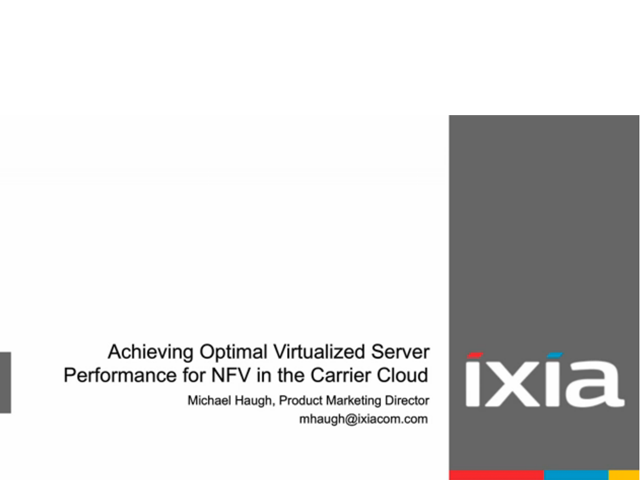 Achieving Optimal Virtualized Server Performance for NFV in the Carrier Cloud