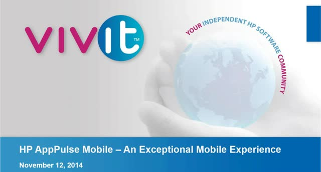HP AppPulse Mobile – Delivering an exceptional mobile user experience