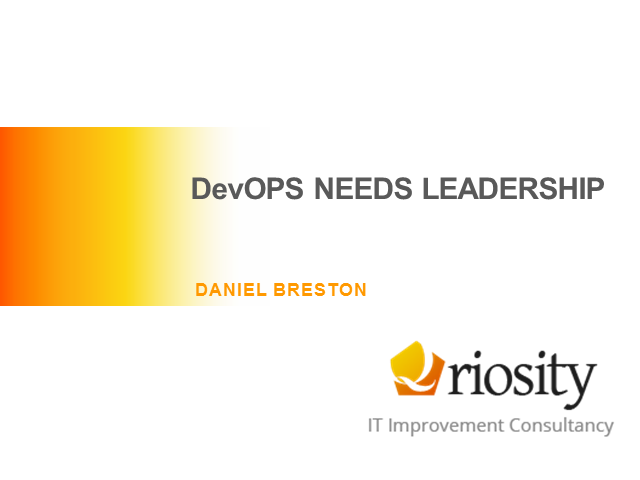 DevOPS Needs Leadership