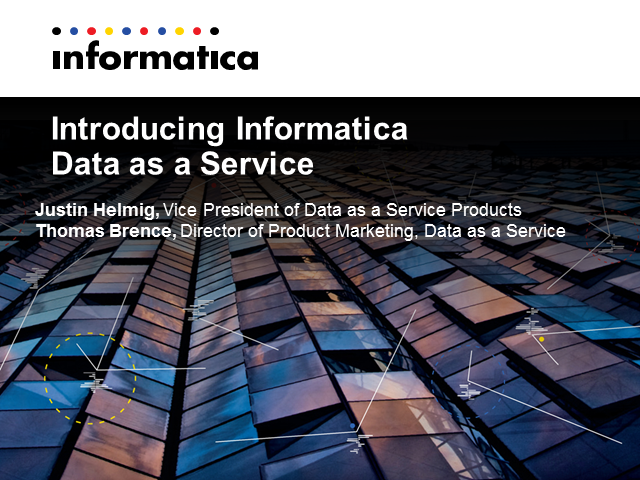 Introducing Informatica Data as a Service