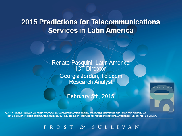 2015 Predictions for Telecommunications Services in Latin America