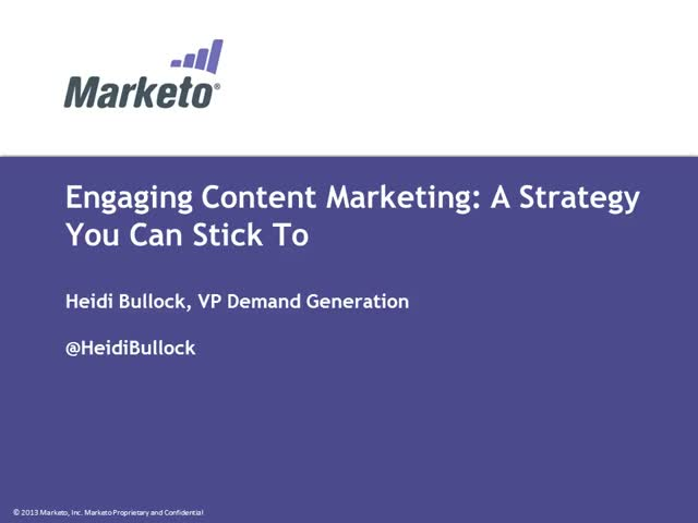 Engaging Content Marketing: A Strategy You Can Stick To