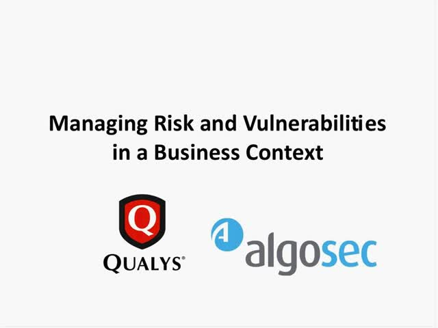 Managing Risk and Vulnerabilities in a Business Context