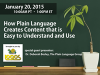 How Plain Language Creates Content that is Easy to Understand and Use
