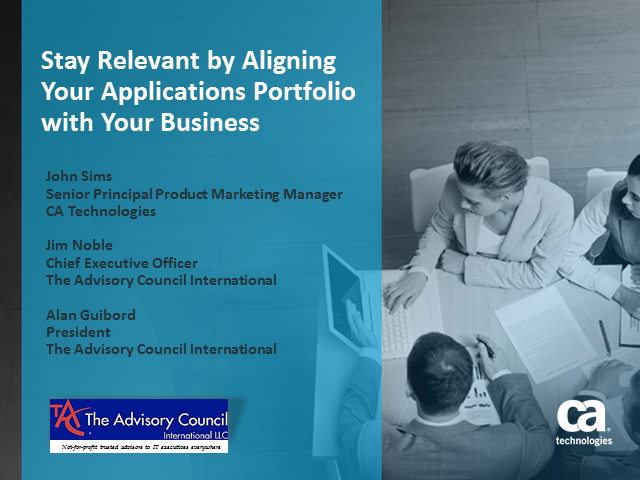 Stay Relevant: Align Your App Portfolio to Your Line of Business Stakeholders