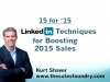15 for '15: LinkedIn Techniques for Boosting 2015 Sales