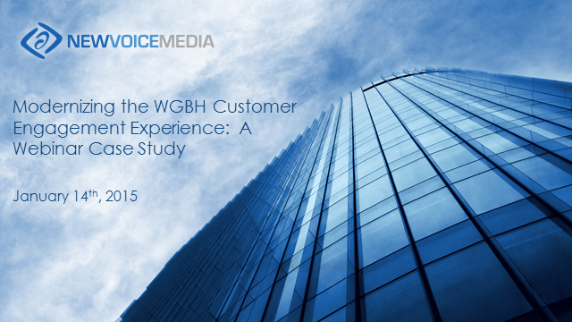 Modernizing the WGBH Customer Engagement Experience: A Webinar Case Study