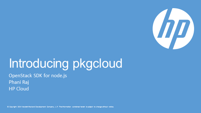 HP Helion- pkgcloud: Openstack® SDK for node.js