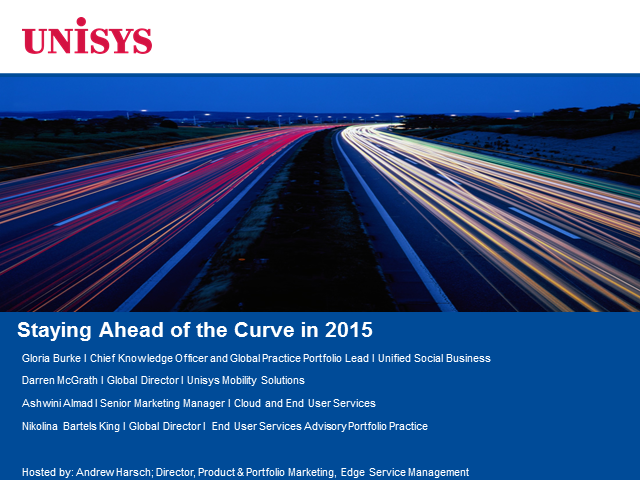Staying Ahead of the Curve in 2015