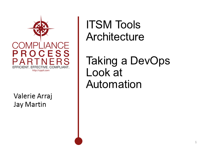 ITSM Tools Architecture: Taking a DevOps look at Automation