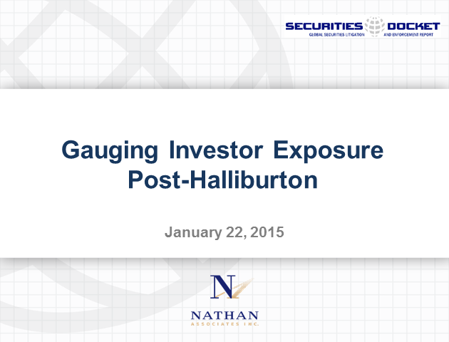 Gauging Investor Exposure Post-Halliburton