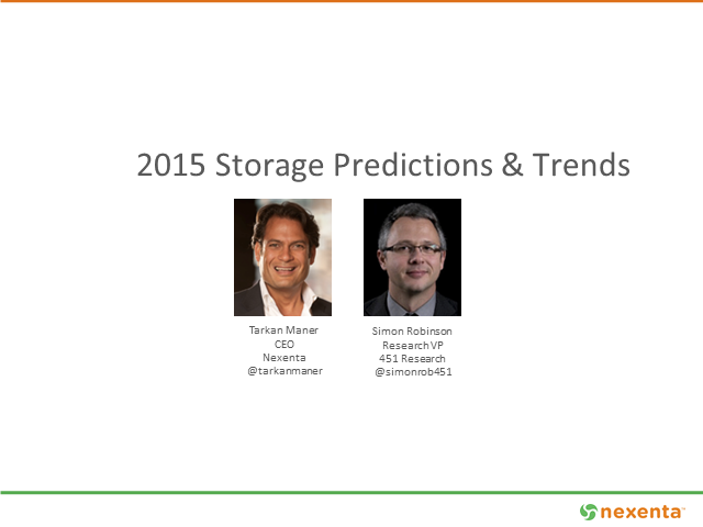 Nexenta & 451 Research: 2015 Storage Predictions & Trends