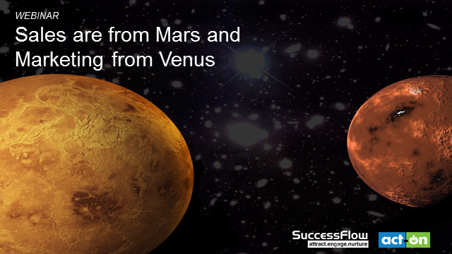 Sales is from Mars and Marketing from Venus