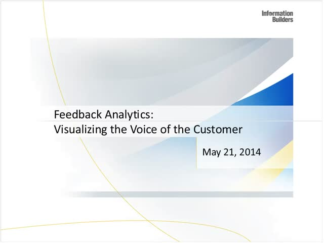 Redefining Self-Service Analytics Series - Visualizing the Voice of the Customer