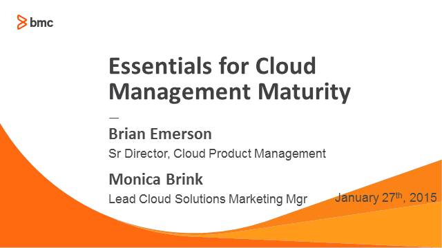 Essentials for Cloud Management Maturity