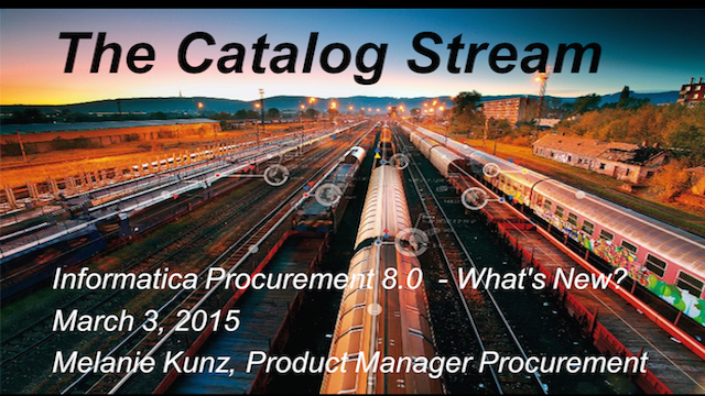The Catalog Stream -  Informatica Procurement 8.0 - What's New