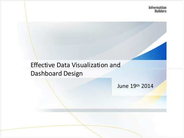 Redefining Self-Service Analytics Series - Effective Data Visualization