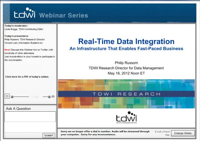 Real-Time Data Integration: An Infrastructure That Enables Fast-Paced Business