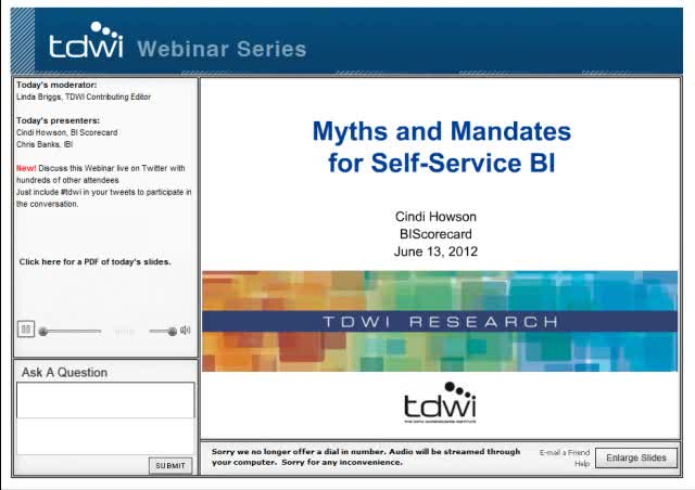 Myths and Mandates for Self-Service BI