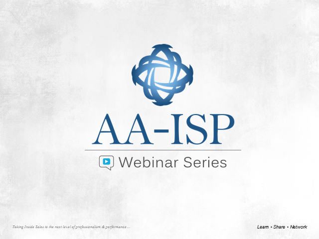 AA-ISP Webinar: 4 Ways Queue-based Lead Management is Shaping Inside Sales