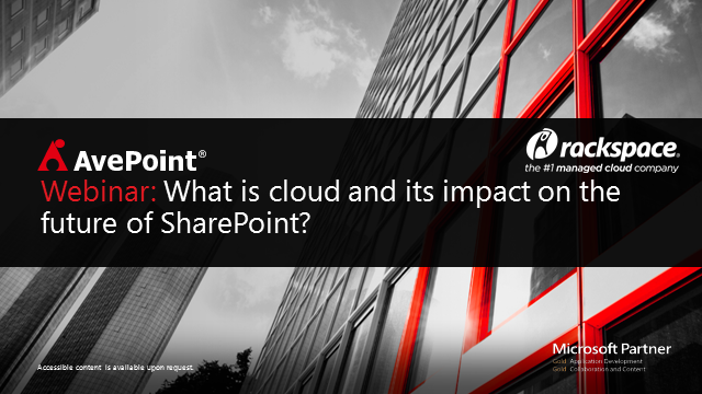 What is cloud and its impact on the future of SharePoint?