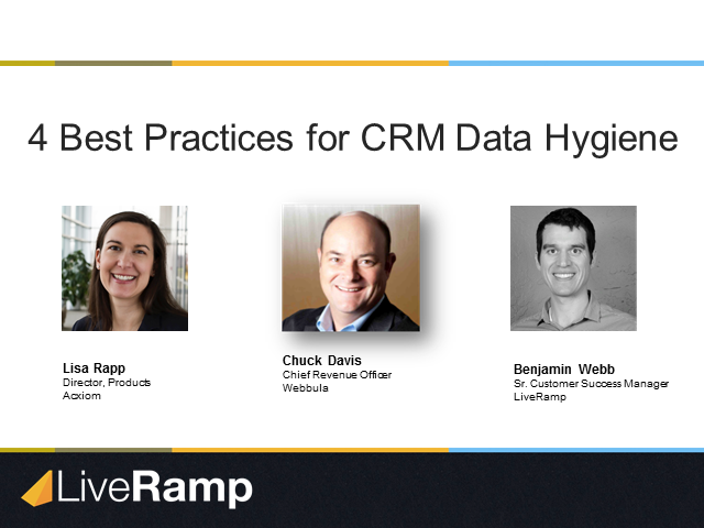 4 Best Practices for CRM Data Hygiene