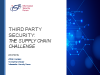 Third Party Supplier Security: The supply chain challenge