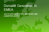 Demand Generation in EMEA - How to Drive Demand from Webinar & Video Programmes