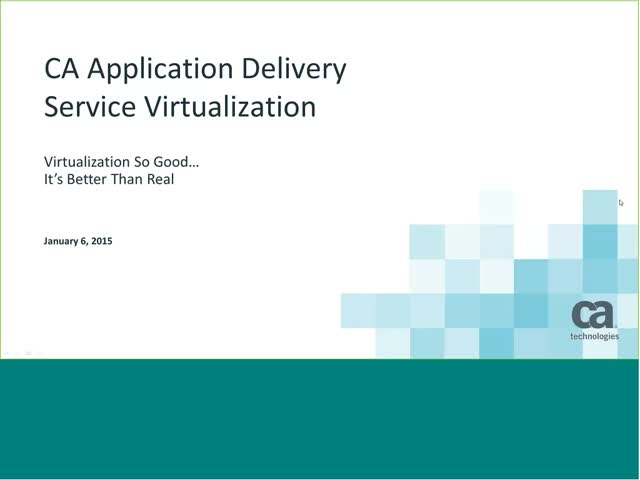 Service Virtualization Use Case and Live Demo