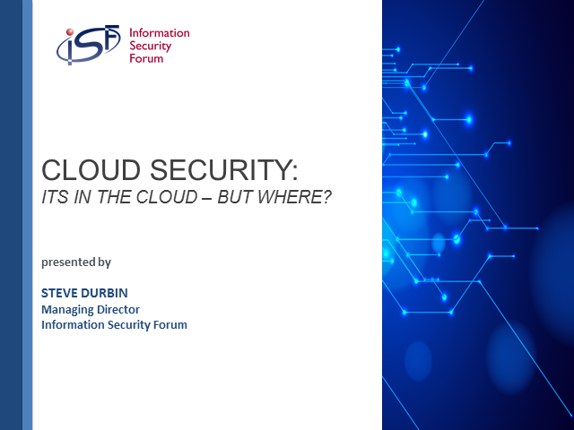 Cloud Security: It's in the cloud - but where?