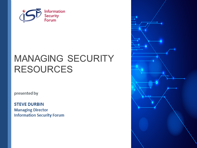 Managing Security Resources: It's all about people and awareness
