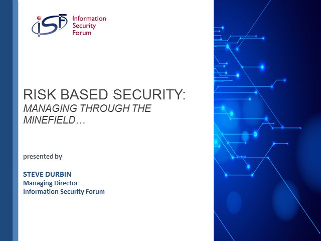 Risk Based Security: Managing through the minefield