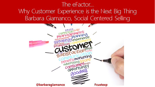 The eFactor – Why Customer Experience is the Next Big Thing
