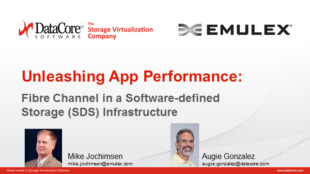 Unleashing App Performance: Fibre Channel in a Software-defined Storage Space
