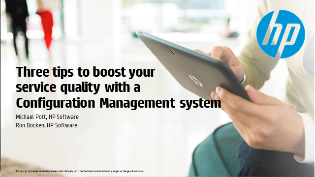 Three tips to boost your service quality with a Configuration Management system