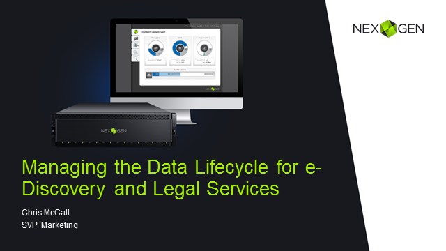 Managing the Business Value Lifecycle of Data for eDiscovery and Legal Services