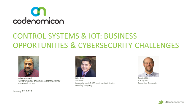 Control Systems & IoT: Business Opportunities and Cybersecurity Challenges