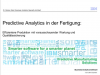 Predictive Analytics in der Fertigung