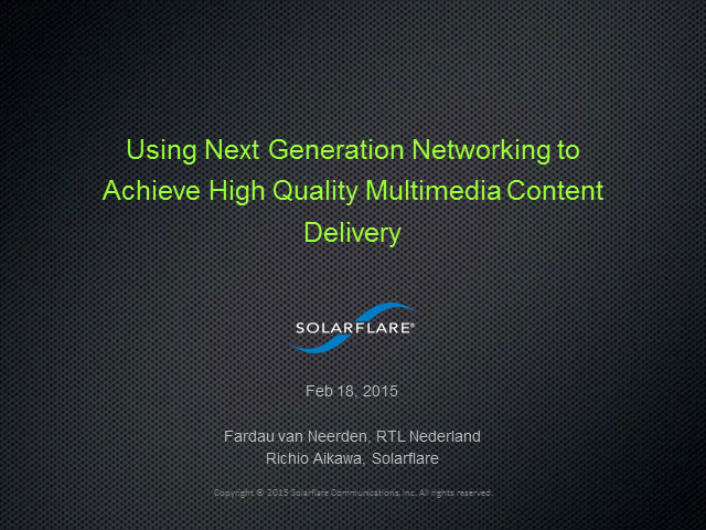 Next Generation Networking to Achieve High Quality Multimedia Content Delivery