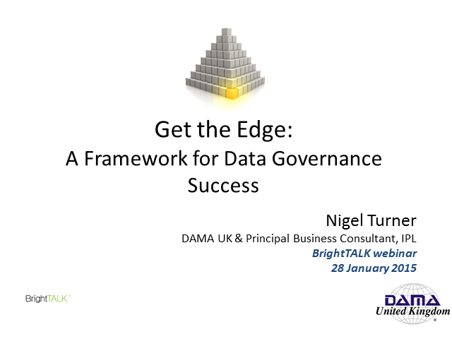 Get the Edge: A Framework for Information Governance Success