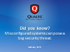 Did you know? Misconfigured systems can pose a big security threat.