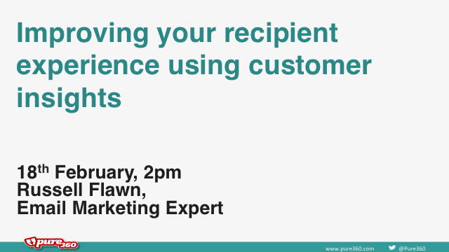 Improving your recipient experience using customer insights