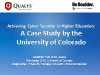 Achieving Cyber Security in Higher Education