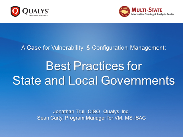 A Case for Vulnerability and Configuration Management: