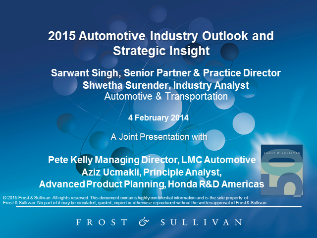 2015 Global Automotive Industry Outlook