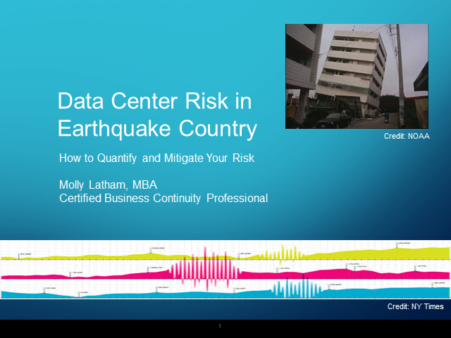 Data Center Risk in Earthquake Country: How to Mitigate the Threat