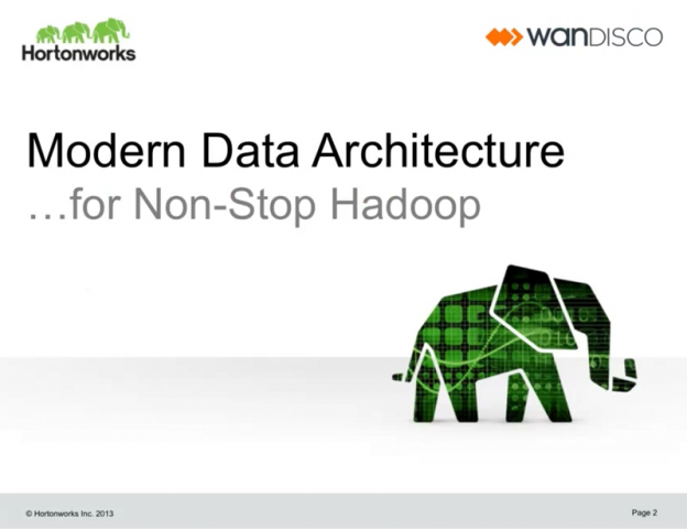 The Modern Data Architecture for Non-Stop Hadoop