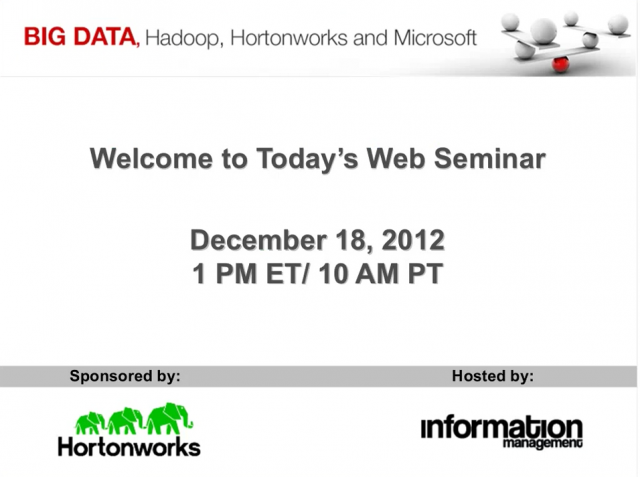 Big Data, Hadoop, Hortonworks and Microsoft HDInsight