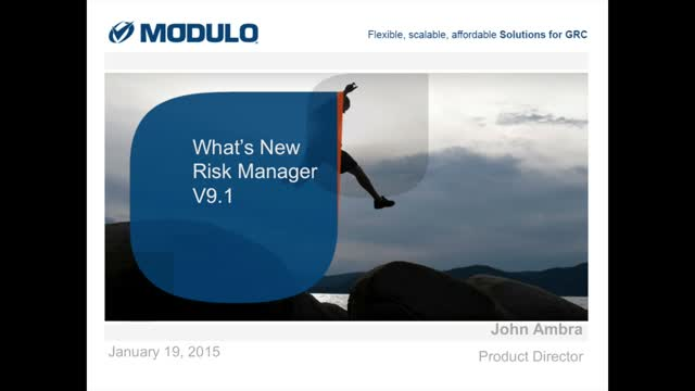 Modulo Risk Manager: What's New v9.1